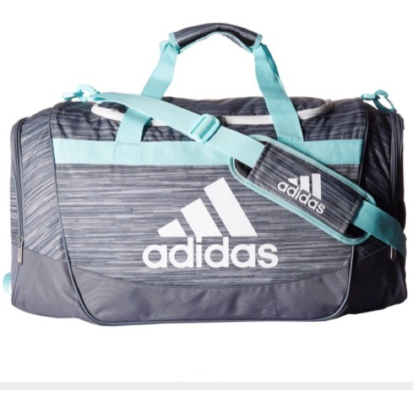 ab438a7937a0 adidas Defense Medium Duffel Looper Onix/Aqua NWT